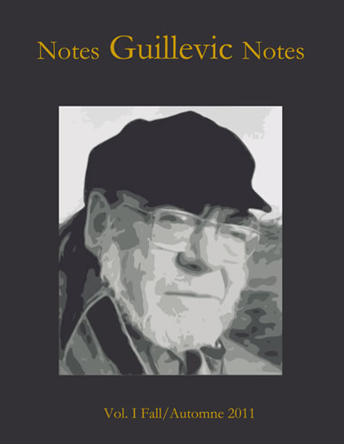 Sergio Villani (red.), Notes Guillevic Notes, revue bilingue en-ligne/Bilingual Online Journal.